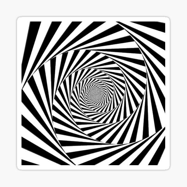 #Op art, #Art movement, #Optical #illusion Sticker