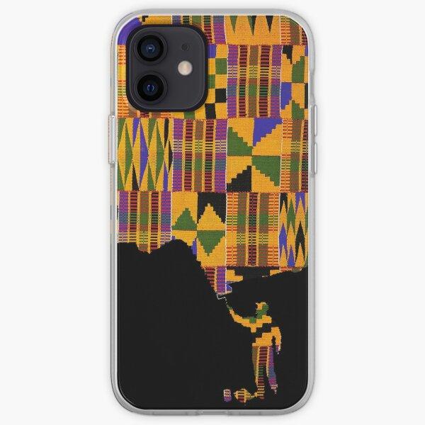 Painting Kente (black) iPhone Soft Case