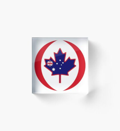Australian Canadian Multinational Patriot Flag Series Acrylic Block