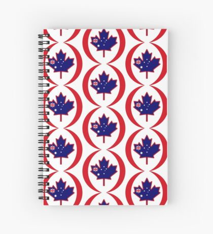 Australian Canadian Multinational Patriot Flag Series Spiral Notebook
