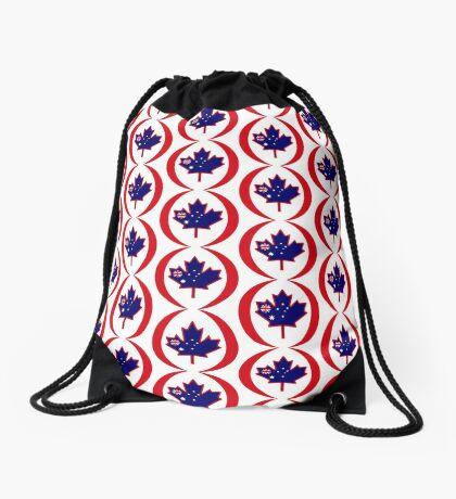 Australian Canadian Multinational Patriot Flag Series Drawstring Bag
