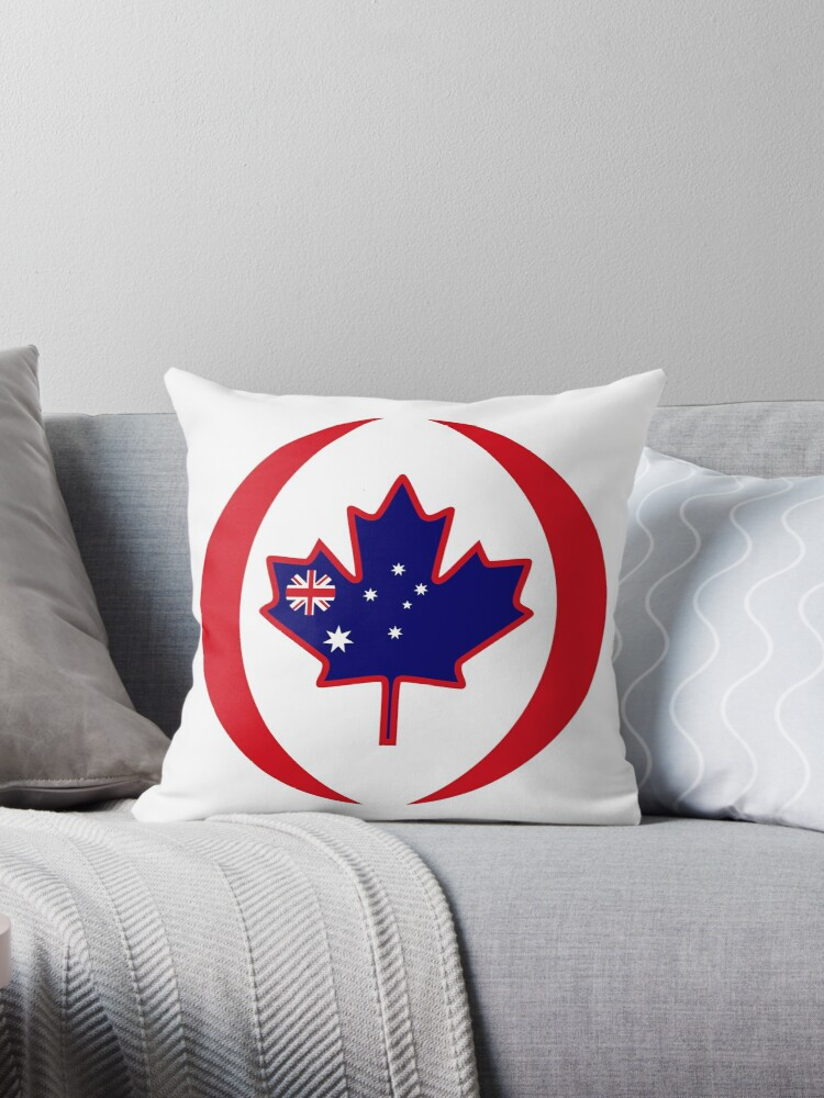 Australian Canadian Multinational Patriot Flag Series by Carbon-Fibre Media