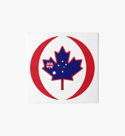 Australian Canadian Multinational Patriot Flag Series Art Board Print