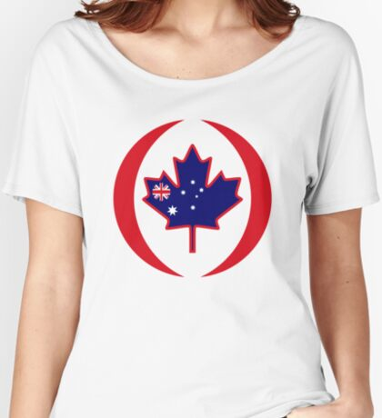 Australian Canadian Multinational Patriot Flag Series Relaxed Fit T-Shirt
