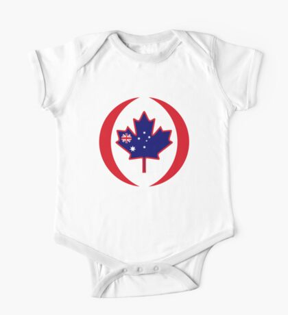 Australian Canadian Multinational Patriot Flag Series Kids Clothes