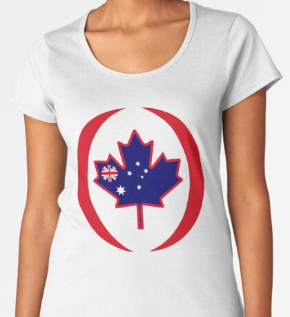 Australian Canadian Multinational Patriot Flag Series Premium Scoop T-Shirt
