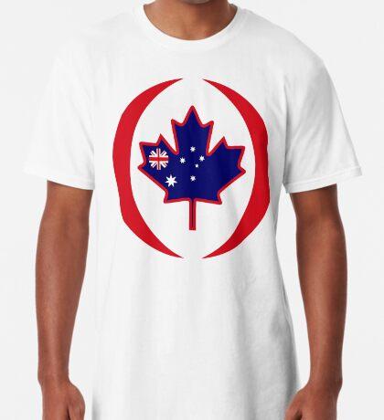 Australian Canadian Multinational Patriot Flag Series Long T-Shirt
