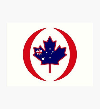 Australian Canadian Multinational Patriot Flag Series Art Print