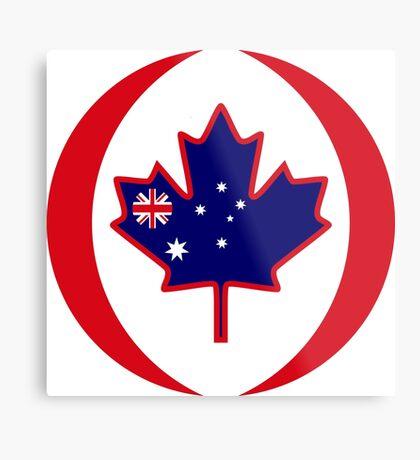Australian Canadian Multinational Patriot Flag Series Metal Print