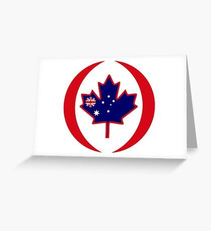 Australian Canadian Multinational Patriot Flag Series Greeting Card