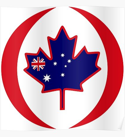 Australian Canadian Multinational Patriot Flag Series Poster