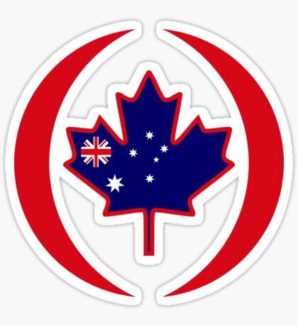 Australian Canadian Multinational Patriot Flag Series Sticker
