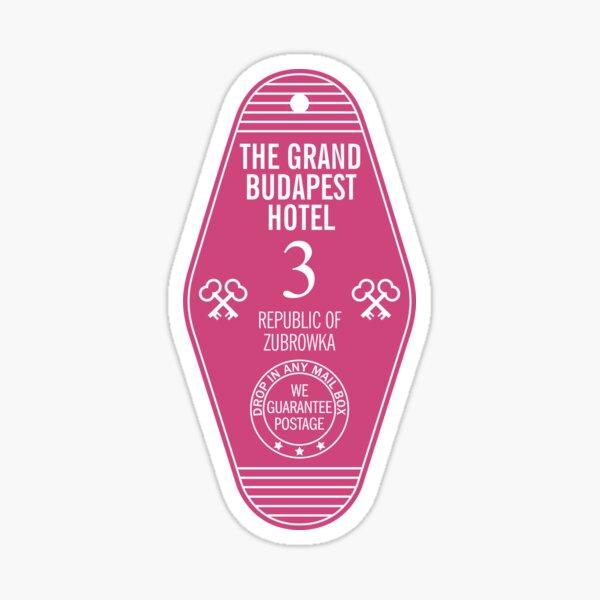 The Grand Budapest Hotel Key Sticker