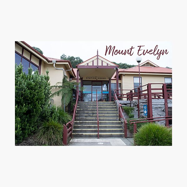 Mount Evelyn Station House Photographic Print