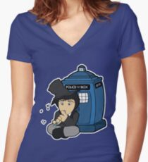 Doctor Number Two Women's Fitted V-Neck T-Shirt
