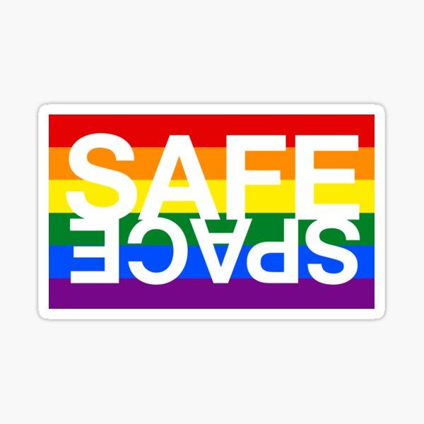 Safe Space Rainbow Pegatina