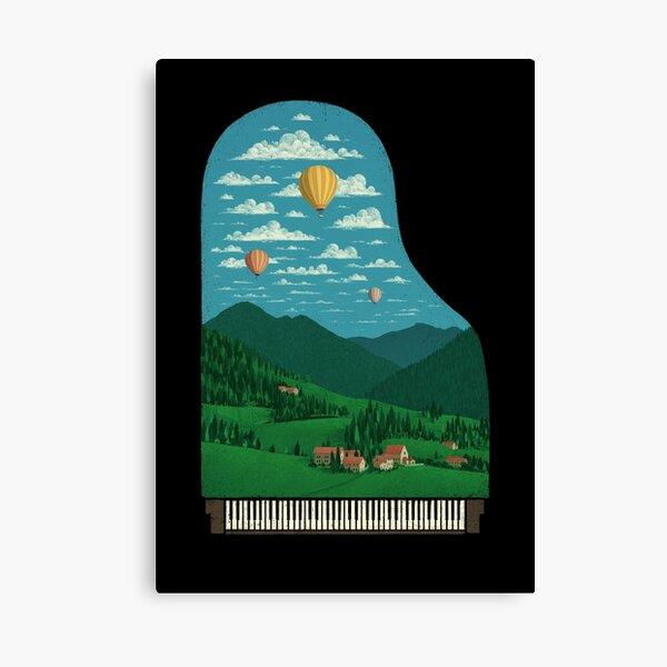 Pianoscape Canvas Print