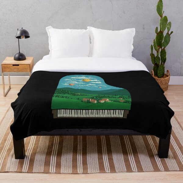 Pianoscape Throw Blanket