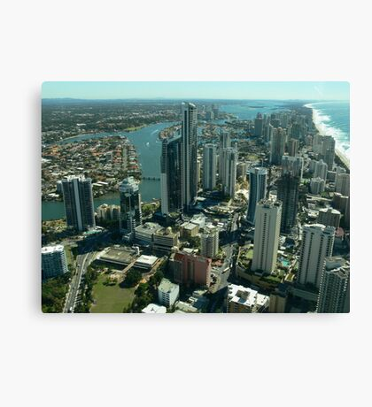 Flying over the Gold Coast Canvas Print