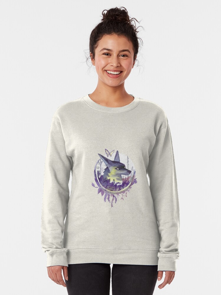 Alternate view of Butterfly & Wolf Pullover Sweatshirt