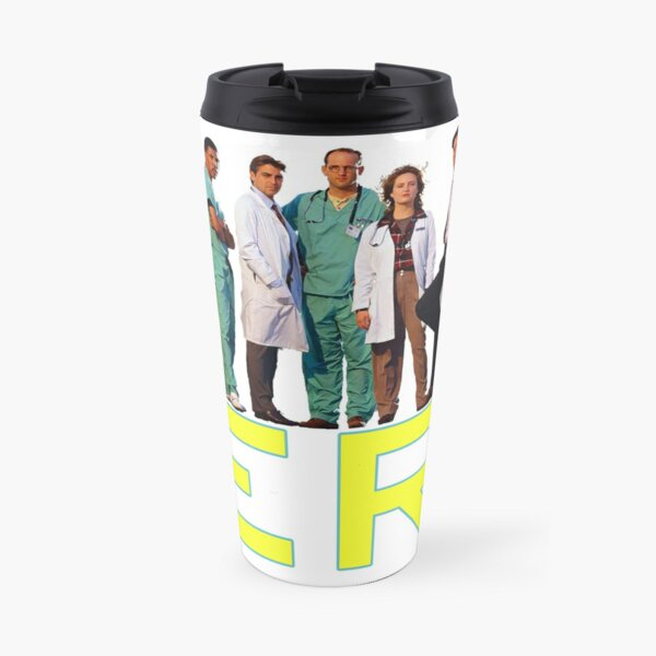 E.R. 90s CAST YOUNG GEORGE CLOONEY TRIBUTE Travel Mug