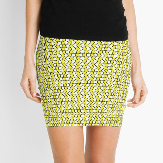 #Pattern, #repeat, #textile, #repetition,tile,abstract,fashion,grid Mini Skirt