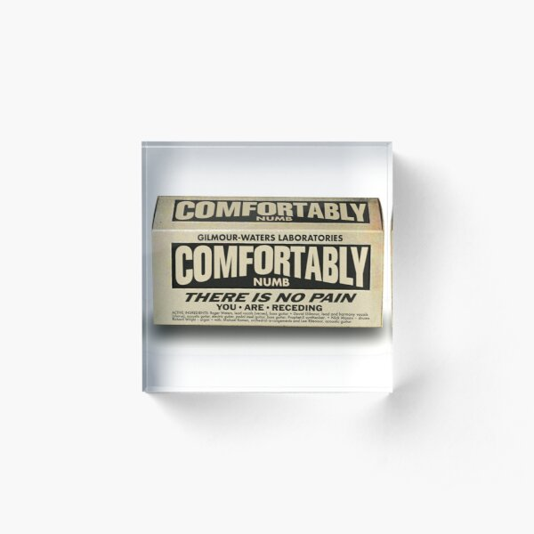 COMFORTABLY NUMB PAIN RELIEF Acrylic Block