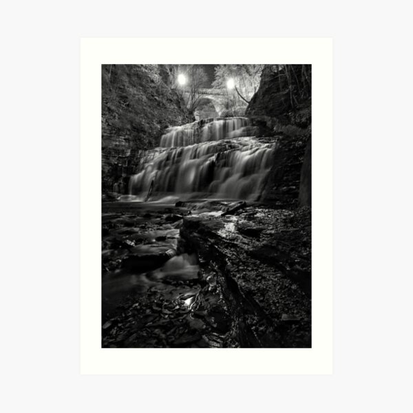 Cascadilla Gorge at Night Art Print