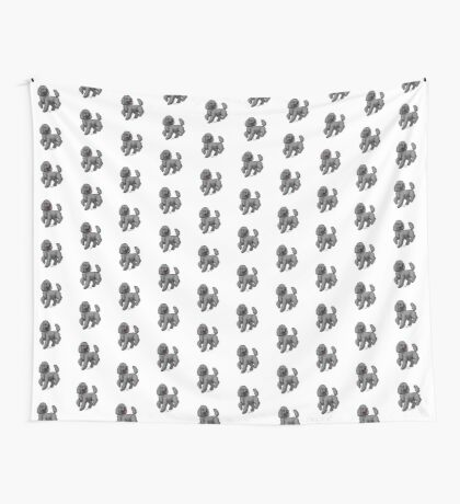 Poodle Black Wall Tapestry