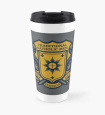 Traditional Catholic Men Coat of Arms Travel Mug