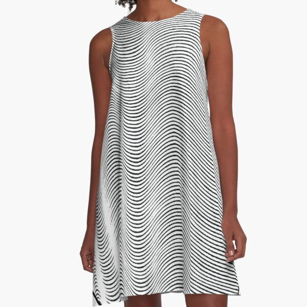 #Pattern, #repeat, #textile, #repetition,tile,abstract,fashion,grid A-Line Dress