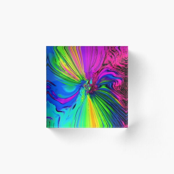 Flower Of The Rainbow! Acrylic Block