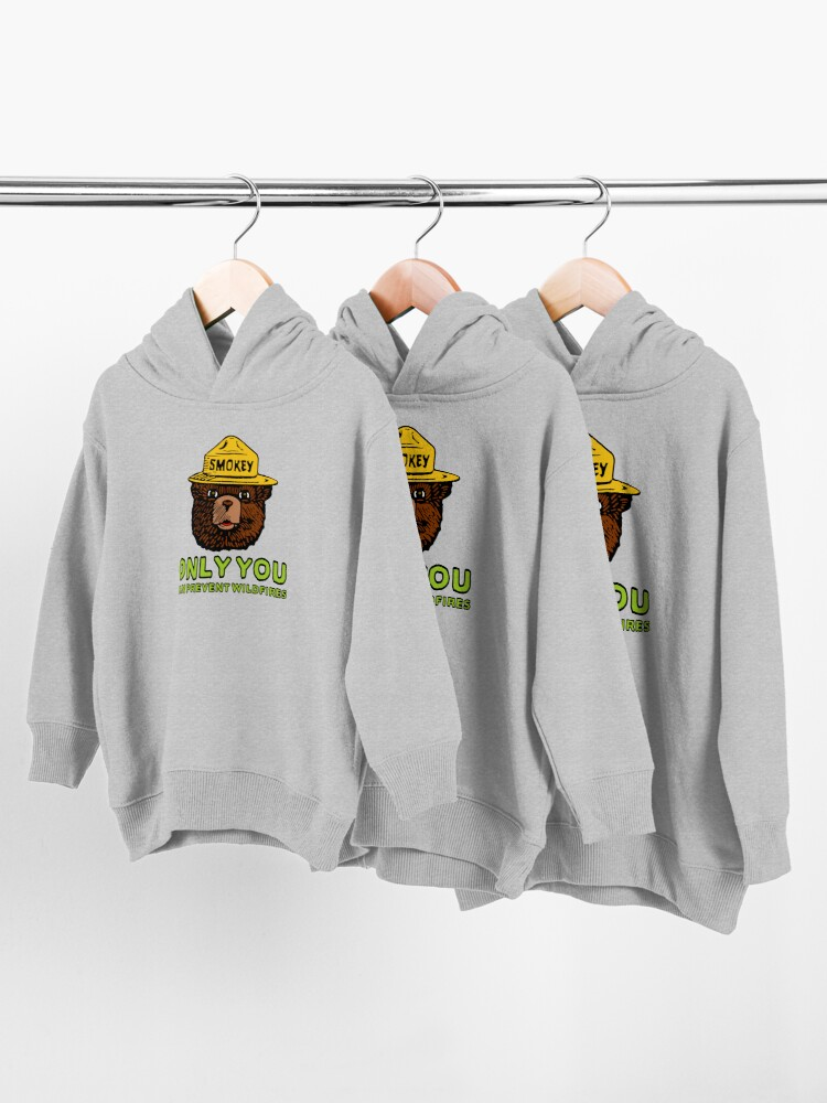 Alternate view of Smokey The Bear: Only You Toddler Pullover Hoodie