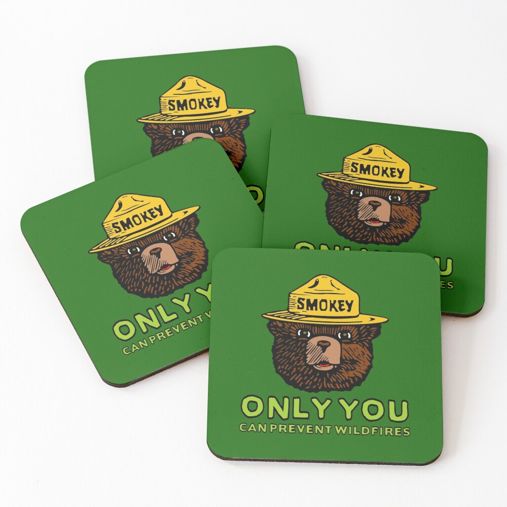 Smokey The Bear: Only You Coasters (Set of 4)