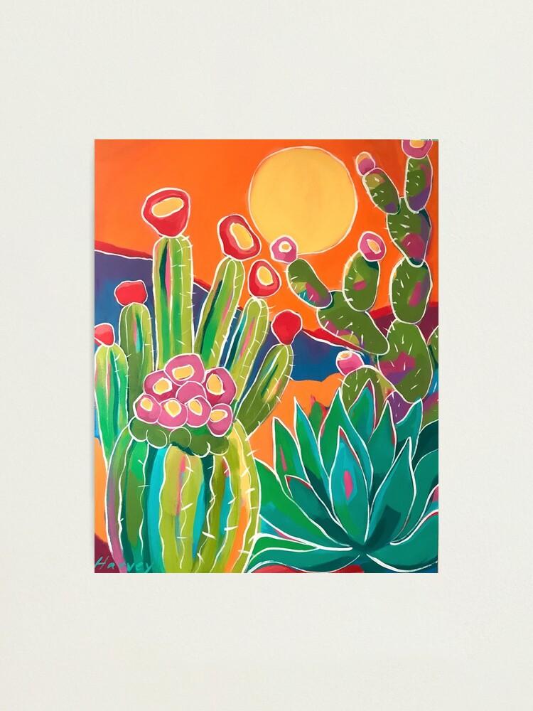 Alternate view of Cacti Sunset Photographic Print