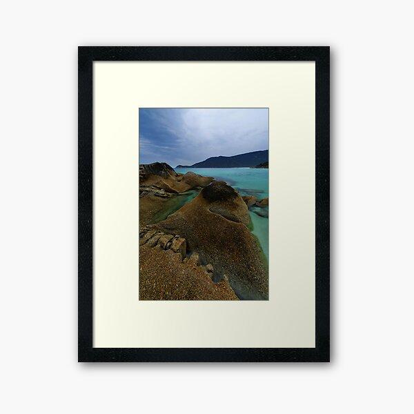 Little Waterloo, Granite & Blue.. Framed Art Print