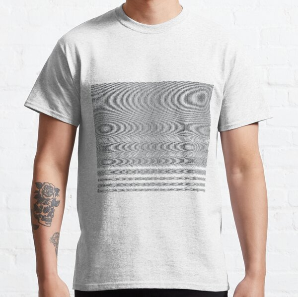 #Pattern, #repeat, #textile, #repetition,tile,abstract,fashion,grid Classic T-Shirt