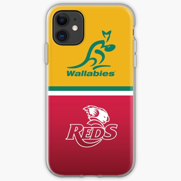 Wallabies and Qld Reds iPhone Soft Case