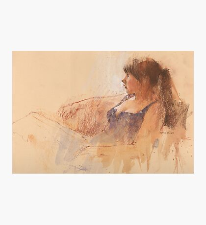 Moray - conte with gouache Photographic Print