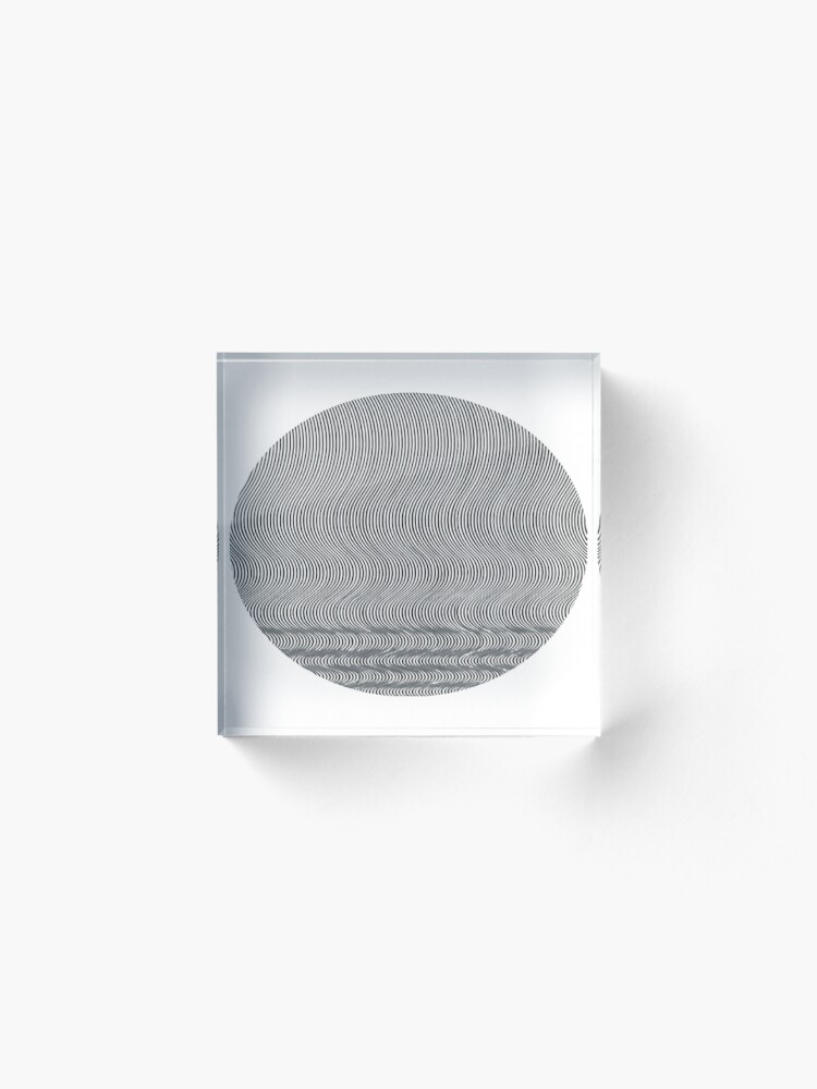 Alternate view of #Pattern, #repeat, #textile, #repetition,tile,abstract,fashion,grid Acrylic Block