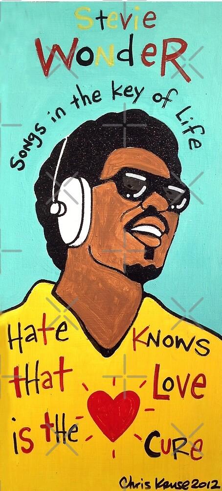 Stevie Wonder Pop Folk  Art by krusefolkart