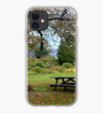 Picnic Table under an Ancient Tree iPhone Case