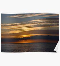 Sunset skies, Cromer. Poster