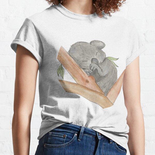 Lindo bebé durmiendo Koala Camiseta clásica