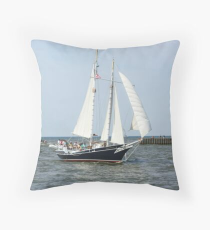 Lake Michigan Schooner Throw Pillow