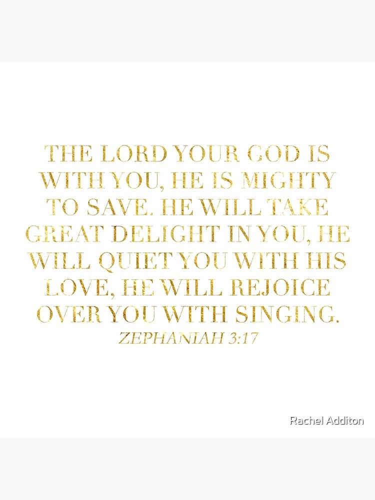 Zephaniah 3:17 by racheladditon