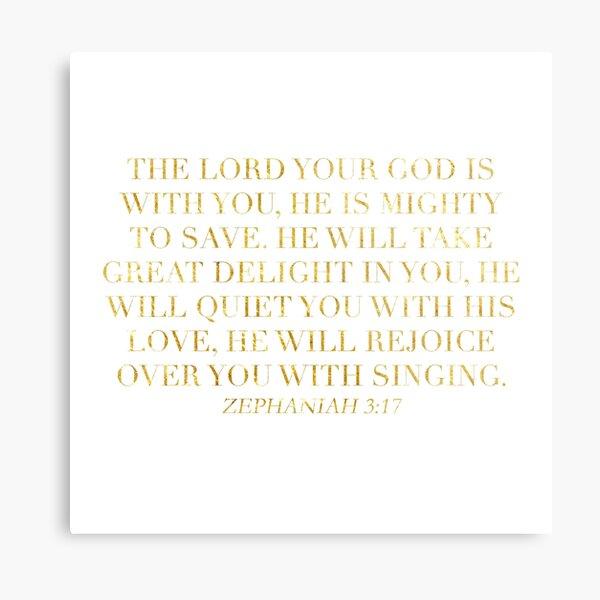 Zephaniah 3:17 Metal Print