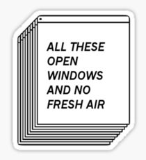 No Fresh Air Sticker