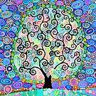 Psychedelic Tree of Life by MarkBetsonArt