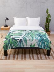 Rising Tropicana Throw Blanket
